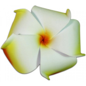 Foam Flower Small Hair Clip Plumeria Orange & White