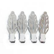 RickyCare No-Crease Silver Leaf Clips
