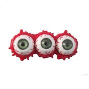 Horror Zombie Triple Eyeball Splatter Hair Slide Green By Kreepsville 666