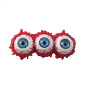 Horror Zombie Triple Eyeball Splatter Hair Slide Blue By Kreepsville 666