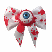 Kawaii Horror Hair Bow Single Eyeball Splatter Blue By Kreepsville 666