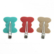 RickyCare No-Crease Blonde/Red/Green Bow Clips