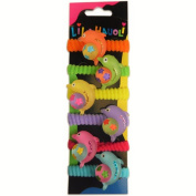 Lil Hauoli Kids Ponytail Elastic Bands Set of 5 Dolphin With Ball
