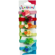 Lil Hauoli Kids Ponytail Elastic Bands Set of 5 Double Flower
