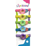 Lil Hauoli Kids Ponytail Elastic Bands Set of 5 Sparkle Hibiscus