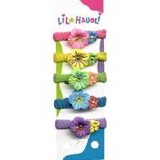 Lil Hauoli Kids Ponytail Elastic Bands Set of 5 Sparkle Hibiscus