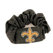 New Orleans Saints Black Hair Scrunchie - Hair Twist - Ponytail Holder by NFL