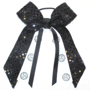 Volleyball Soft Touch Sequin Hair Bow, Avail in many Colours, Made in the USA