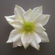 Medium Clematis Artificial Flower Hair Clip/Pin Brooch