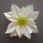 Medium Clematis Artificial Flower Hair Clip/Pin Brooch