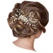 BININBOX Brides Crystal Pearl Hair Jewellery Hair Clip Wedding Prom Headpiece