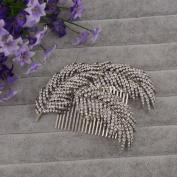 BININBOX Bride Crystal Rhinestones Headpiece Wedding Party Hair Comb