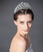 BININBOX Brides Crystal Pearl Tiara Crown Wedding Party Headband Jewellery