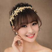 BININBOX Bride Headband Leaves Headpiece Wedding Prom Jewellery