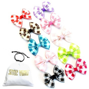 H100-AP Style Vault Pack of 10 Kids Girls 5.1cm Bow Hair Clips