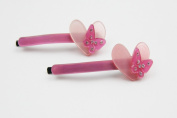 Crispy Collection Heart Design Hair Pin with Rhinestone Selection 2 Pack