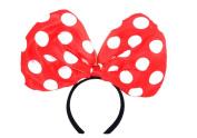 Red Dot Centre Bow Headband