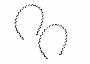 DMtse 6 Pcs Solid Black Design Flexible Metal 0.5cm Width Wavy Hair Hoop Hairband