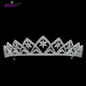 Lucky Star Tiara Full AAA CZ Crown Bridal Hair Jewellery Accessories Micro Pave Wedding Headpiece TR15008