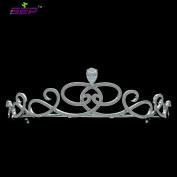 Bridal Wedding Tiara Palace Vintage Crown Evening Hair Jewellery Accessories Micro Pave AAA CZ Head Piece TR15110