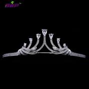 Leaf Crown Micro Pave AAA CZ Tiara Bridal Wedding Hair Accessories Jewellery Birthday Pageant Crown TR15042