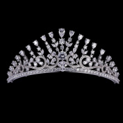 High Quality Full AAA CZ Tiaras Micro Pave Prom Crown Bridal Wedding Hair Jewellery Accessories TR15063