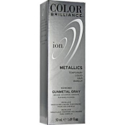 Ion Colour Brilliance Metallics Temporary Liquid Hair Makeup Gunmetal Grey Duo Set