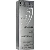 Ion Colour Brilliance Metallics Temporary Liquid Hair Makeup Gunmetal Grey Duo Set