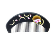 Zhifuxuan Boxwood Hand Painted Comb Without Handle 12cm ,gift Box,handmade,pocket Comb