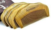 Aimeio Handmade Natural Green Sandalwood Hair Comb and Beard Comb with Natural Wood Aromatic Scent