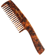 French Amie Feuille Impression Celluloid Handmade Hair Comb with Handle Handle Comb