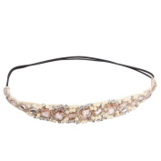 TR.OD Women Crystal Beads Lace Hairband Hair Accessories