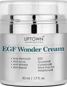 Anti Wrinkle & Acne Scar Removal EGF Wonder Cream From Uptown Cosmeceuticals, Best Skin Repair and Healing Peptide Helps Diminish the Appearance of Scars, Wrinkles, Burns, and Dark Spots Visibly, 50ml