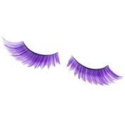 Purple Tip Long False Eyelashes Eye Lashes Dance Halloween Costume