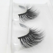 Handmade luxurious 100% Real Mink Natural Cross Long False eyelashes fake eye lashes makeup
