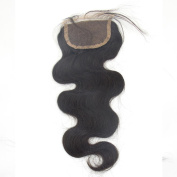 LaNova Beauty Girl's Malaysian Real Human Hair Weave,Size:60cm ,Lace Closure Body Wave,Natural Colour,1pc/lot,40g/pc