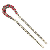 12cm Fashion Lady Hair Accessory Decorative Hair Pin Stick Fork for Long Hair