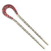 12cm Fashion Lady Hair Accessory Decorative Hair Pin Stick Fork for Long Hair