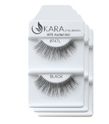 KARA Professional 100% Natural Human Hair Hand Crafted Eyelashes 3Pairs