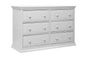 DaVinci Signature 6 Drawer Double Dresser in Fog Grey