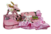 Realtree APC Premium Camouflage Baby Girl Boxed Set - Pink Blanket, Bibs and Whitetail Deer Plush Stuffed Animal