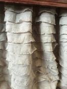 Grey Ruffle Crib Skirt for Shabby Chic Baby Girl Nursery Bedding in Light Grey