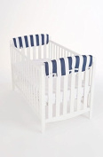 Rockingham Road Navy Cabana Stripes Set (2) of Small Rail Covers