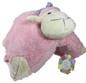 Fluffy Pink Pillow Lamb Pet and Button Picture Frame - Baby, Shower, Birthday, Valentines Day, Easter Gift