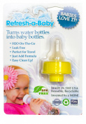 Refresh-a-Baby Water Bottle Adapter, Yellow