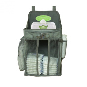 Baby Nursery Organiser w/ Large Pockets - Ample Storage Space Holds Nappies & Wipes, Creams & Lotions - Convenient Access to All Baby Changing Needs - Easy Tool-Free Installation - Breathable Material