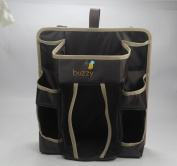Buzzy Babee Nappy Change Organiser, Brown/Coffee Perfect Nappy Caddy & Playard Organiser