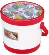 Nishiki Chemical [round storage container] Hello Kitty round container (S) Red