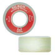 Silkon Bead Stringing Cord Size #4 White - 20 yard spool. Made in Switzerland