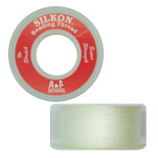 Silkon Bead Stringing Cord Size #1 White - 20 yard spool. Made in Switzerland